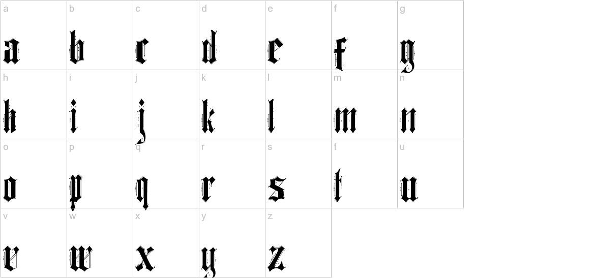 Ethelvina_Regular lowercase
