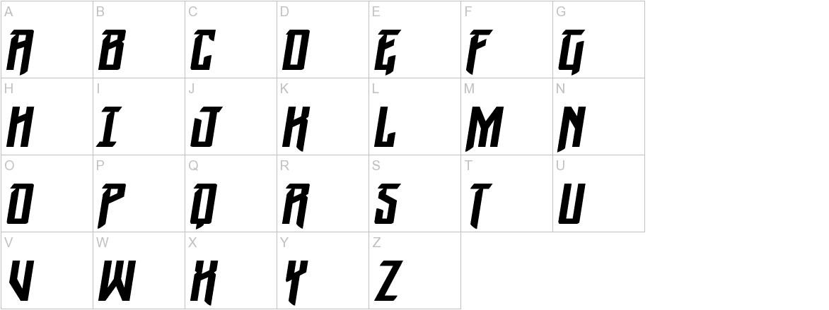 Winter Solstice Italic uppercase