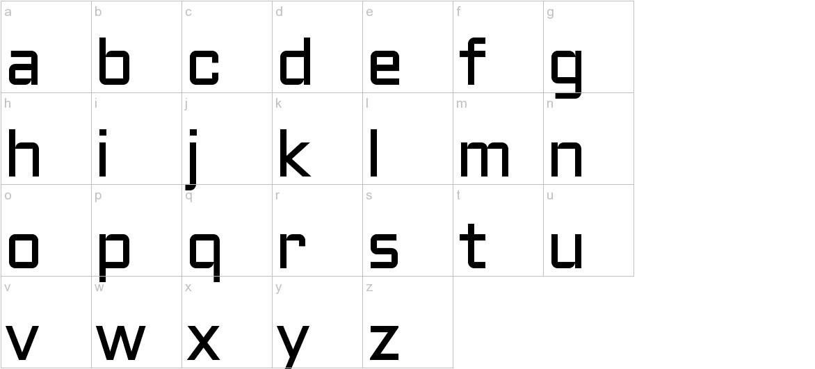 Aldrich lowercase