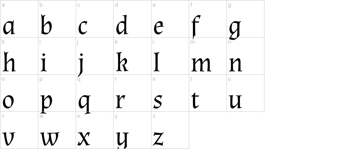 Almendra lowercase