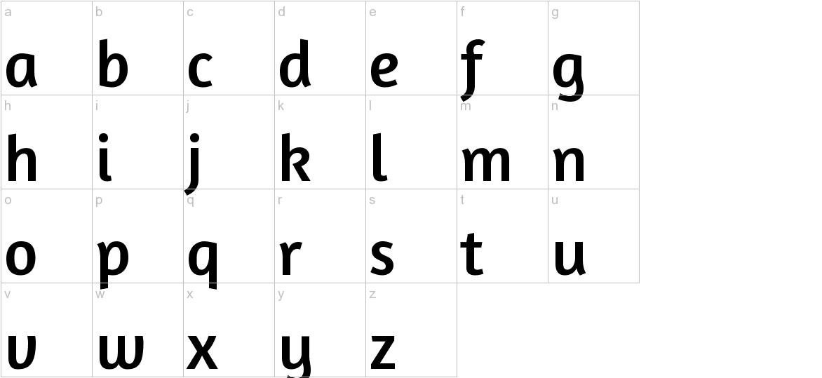 Amaranth lowercase