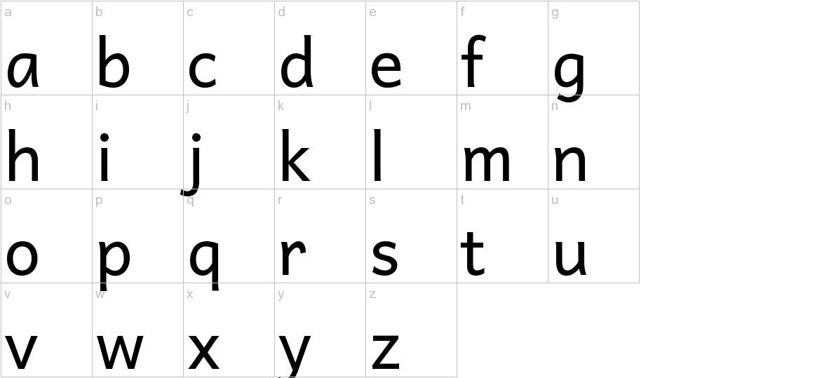 Andika lowercase