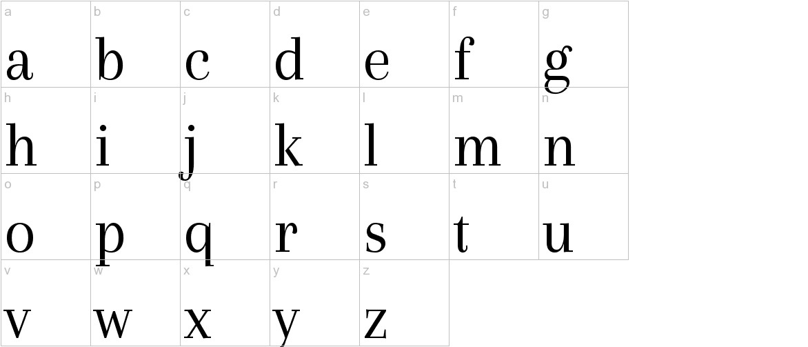 Arapey lowercase