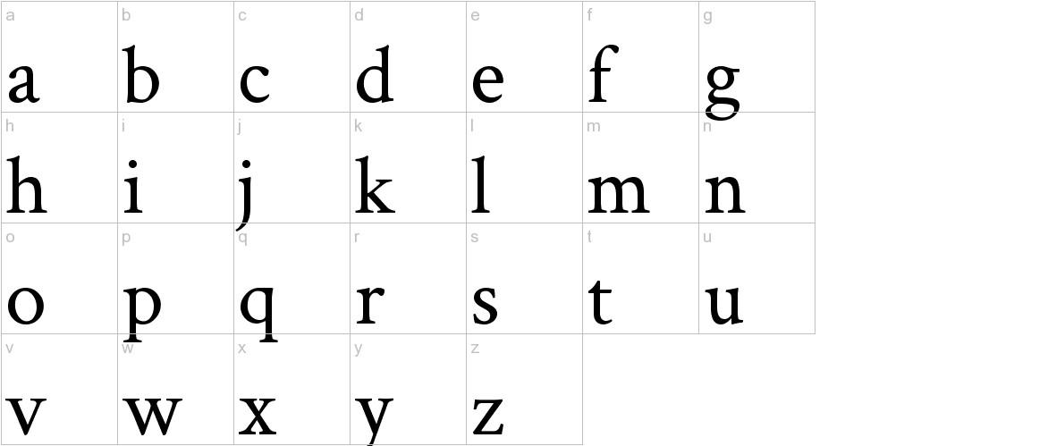 Crimson Text lowercase