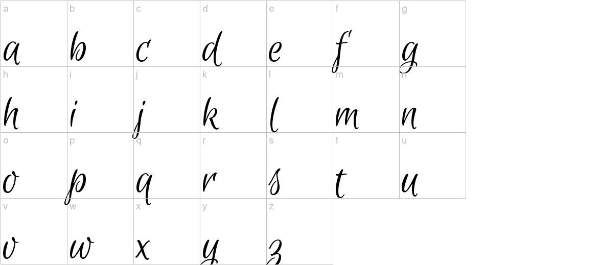 Euphoria Script lowercase