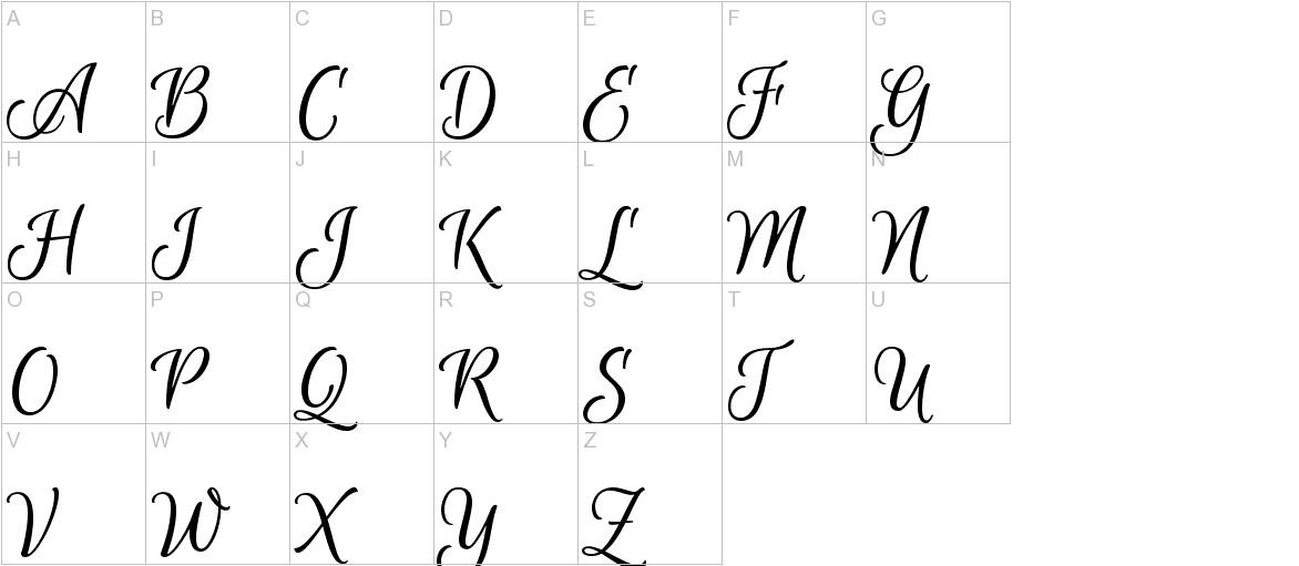Euphoria Script uppercase