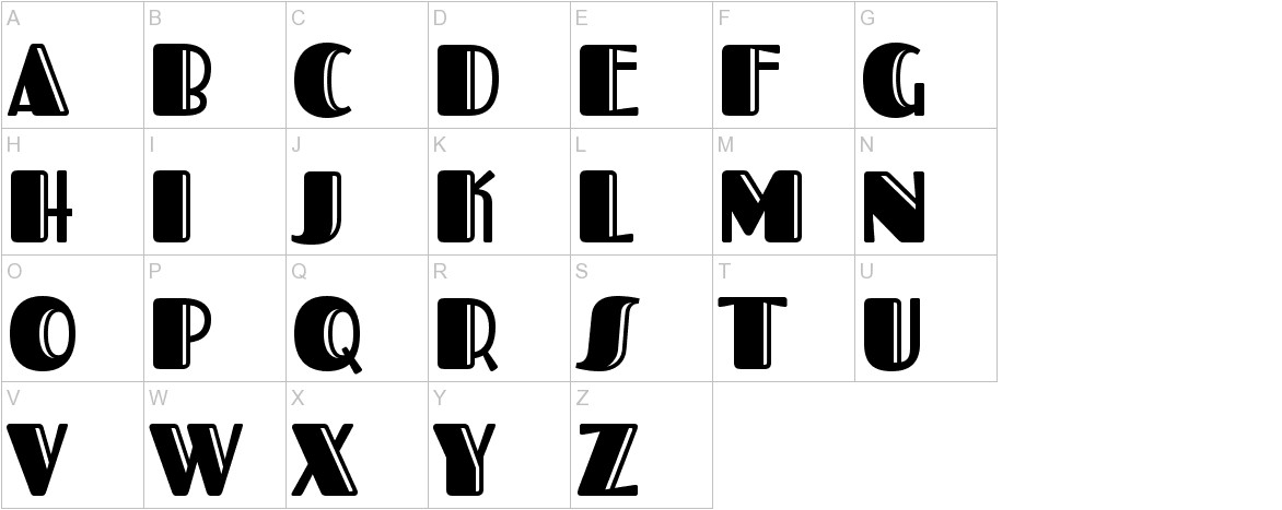 Fascinate Inline uppercase