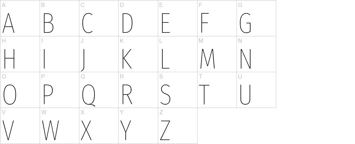 Fira Sans Extra Condensed uppercase