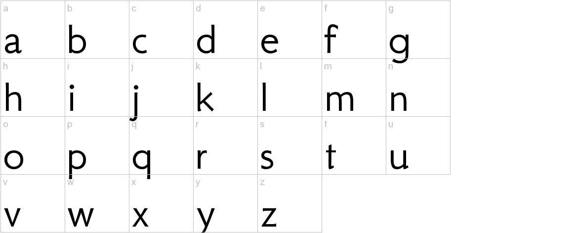 GFS Neohellenic lowercase