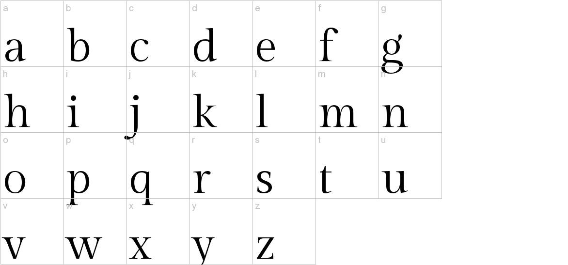 Gilda Display lowercase