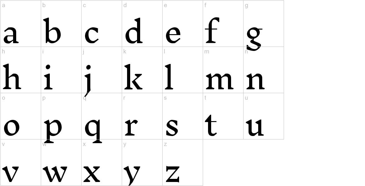 Inknut Antiqua lowercase