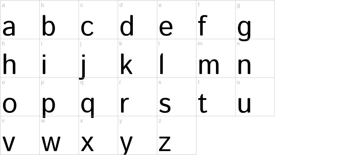 Istok Web lowercase