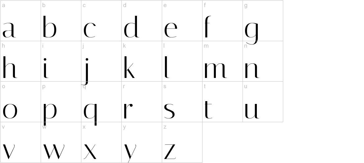 Italiana lowercase