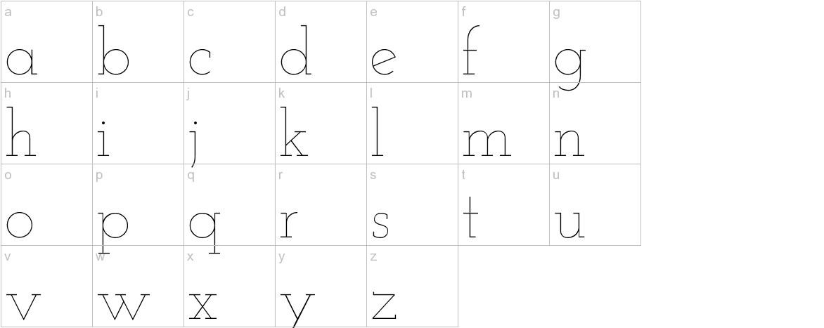 Josefin Slab lowercase