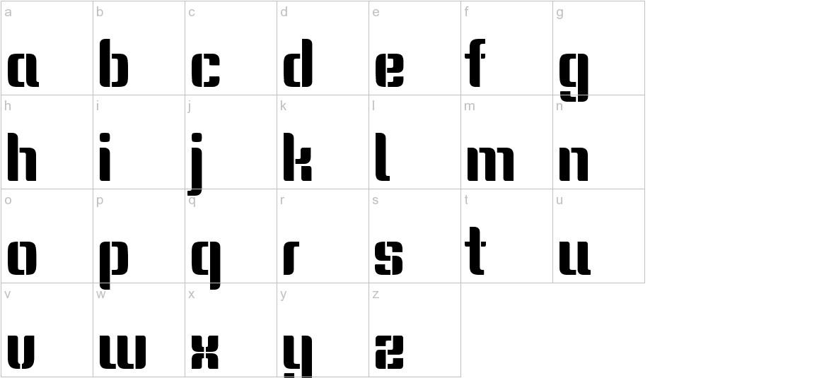 Keania One lowercase