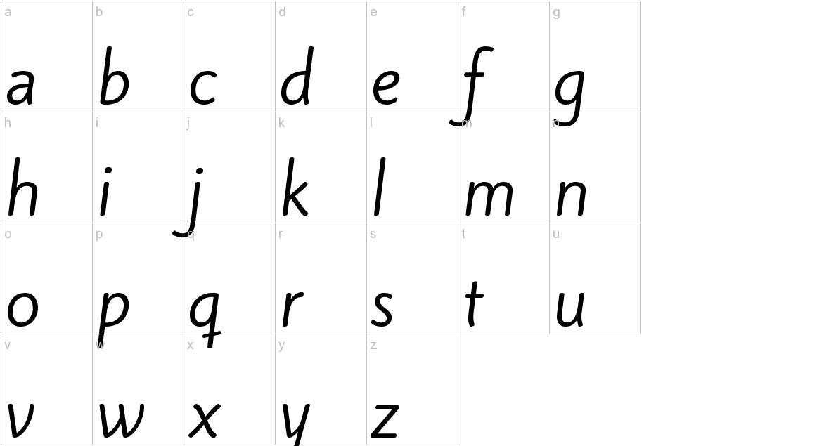 Kite One lowercase