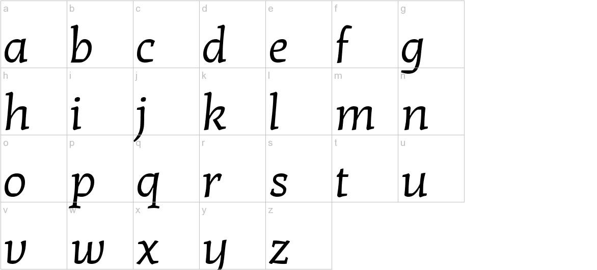 Kotta One lowercase