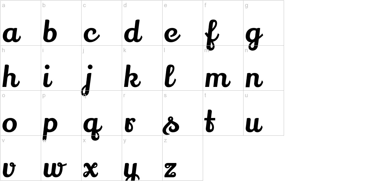 Lily Script One lowercase