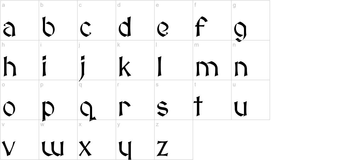 MedievalSharp lowercase