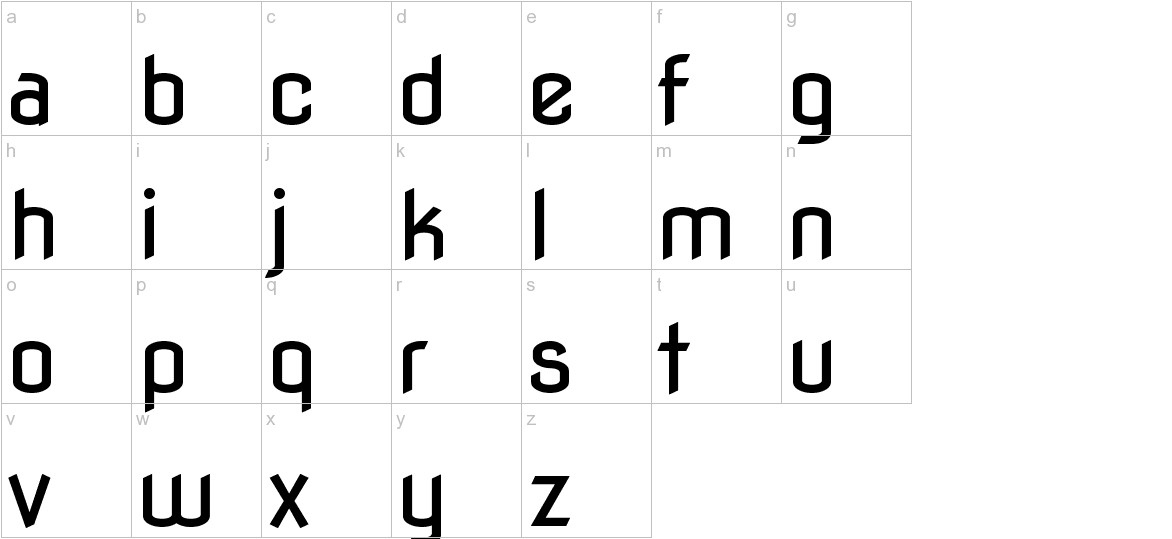 Nova Flat lowercase