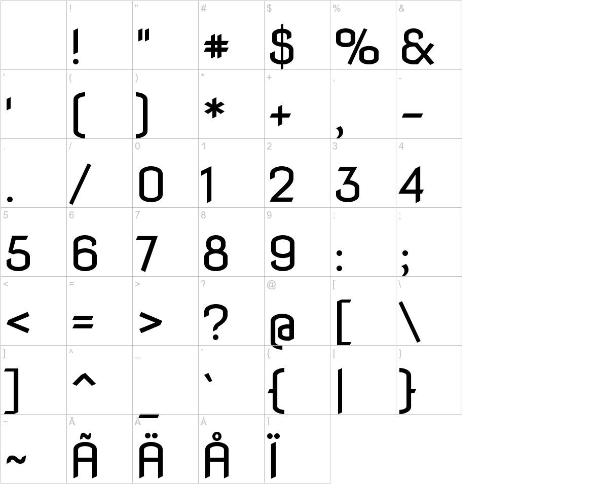 Nova Flat characters