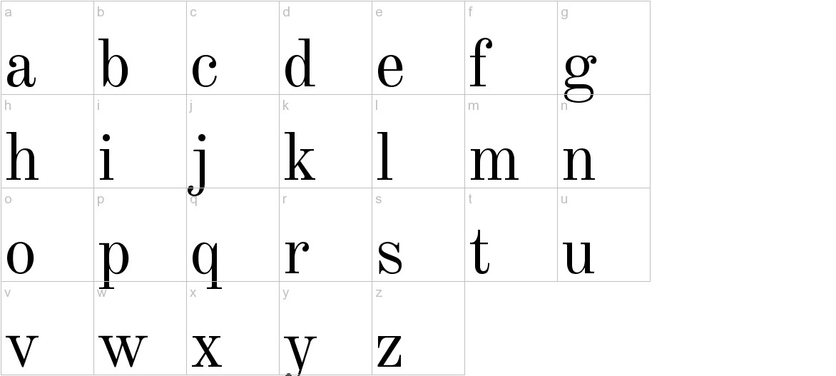 Old Standard TT lowercase