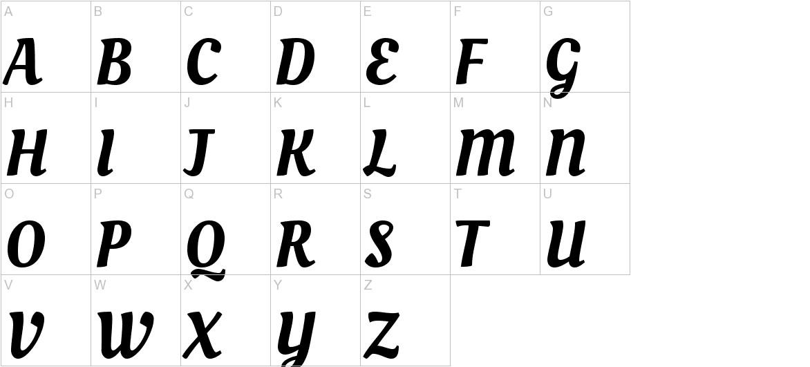 Oleo Script uppercase