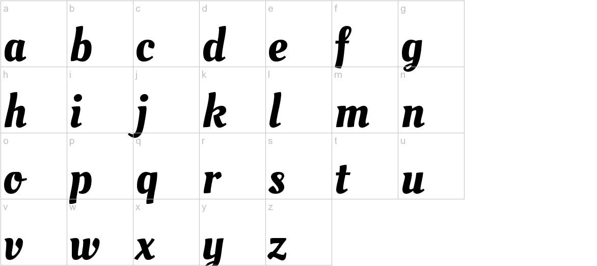 Oleo Script lowercase
