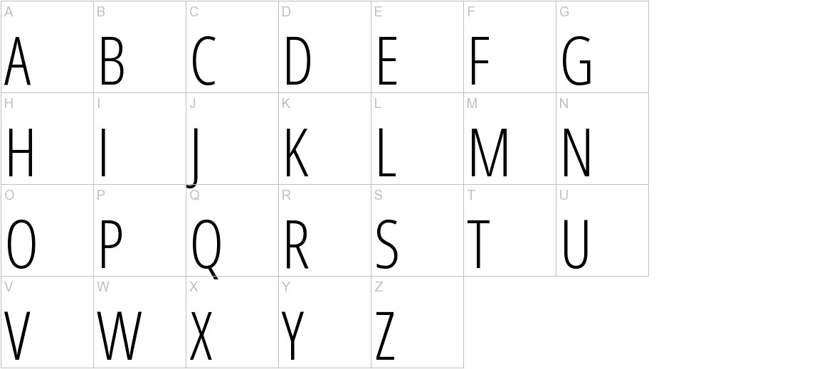 Open Sans Condensed uppercase