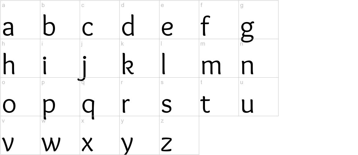 Overlock lowercase