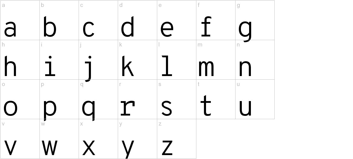Overpass Mono lowercase