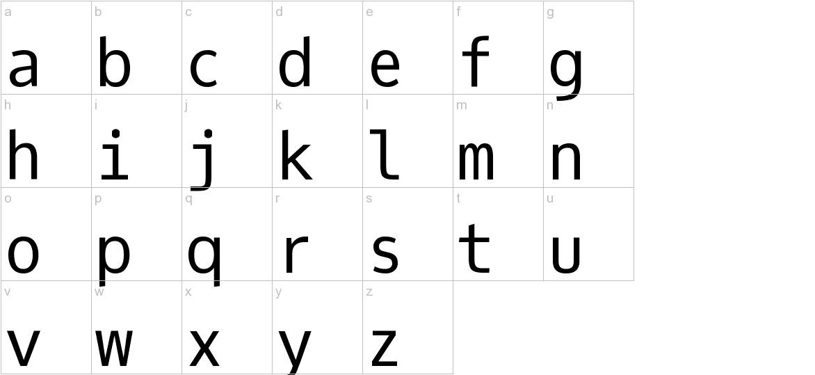 Oxygen Mono lowercase