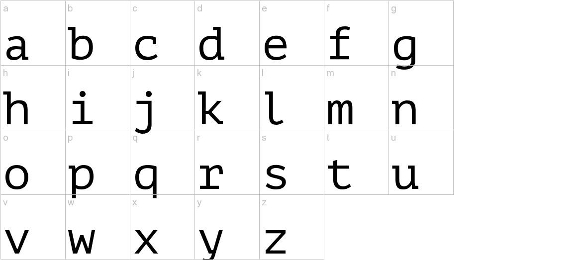 PT Mono lowercase