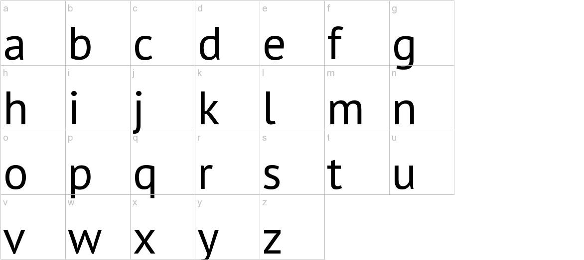 PT Sans lowercase