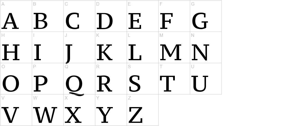 PT Serif Caption uppercase