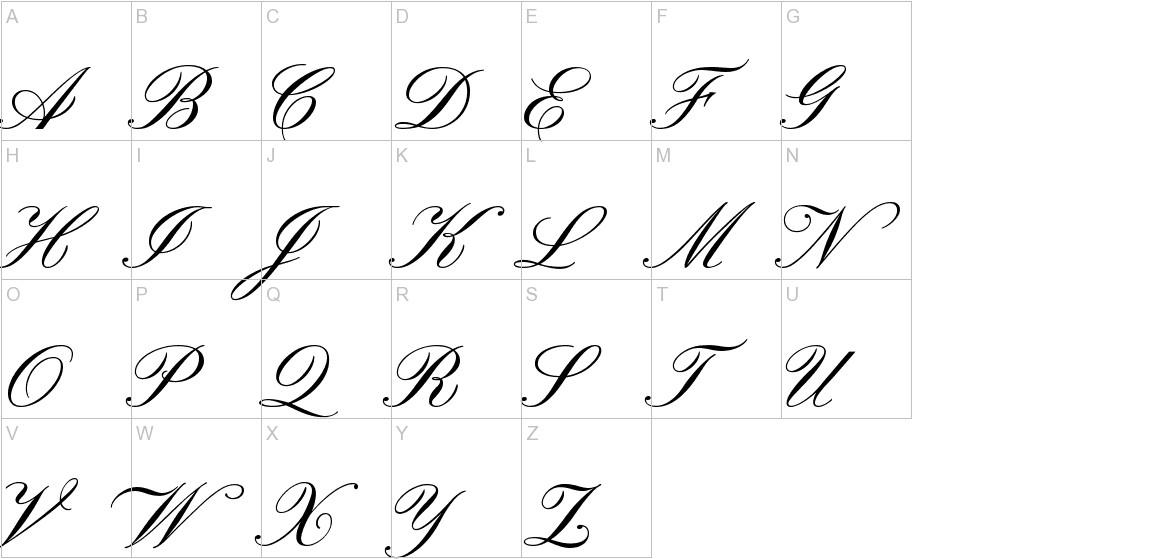 Pinyon Script uppercase