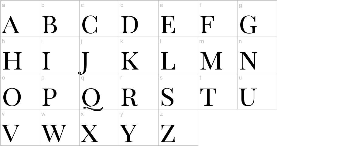 Playfair Display SC lowercase