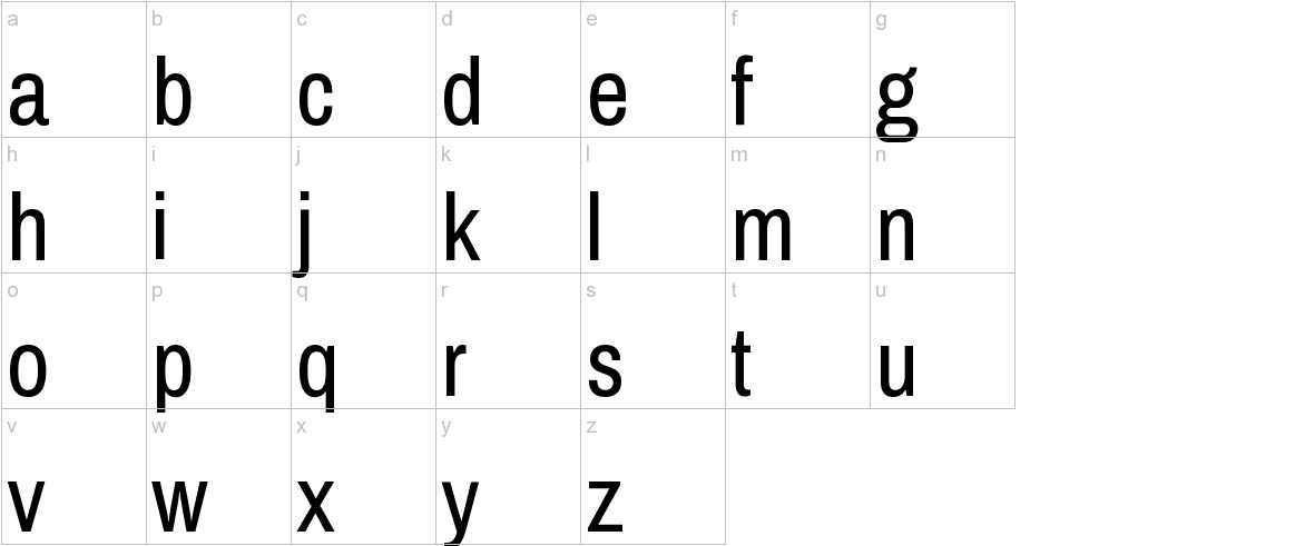 Pragati Narrow lowercase