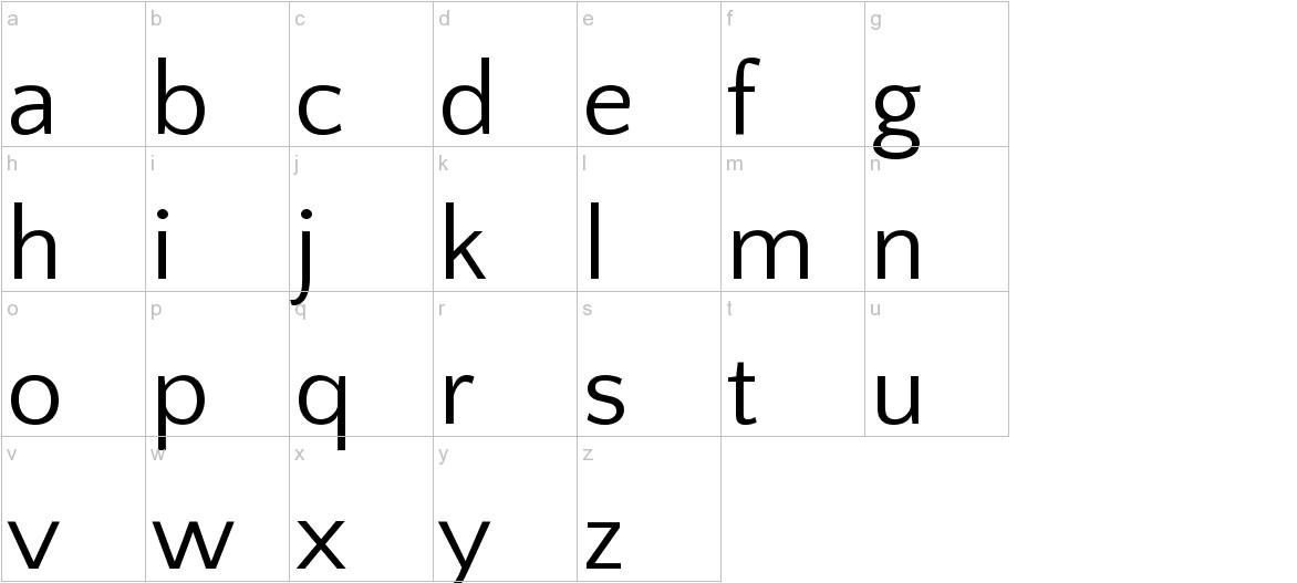 Quattrocento Sans lowercase