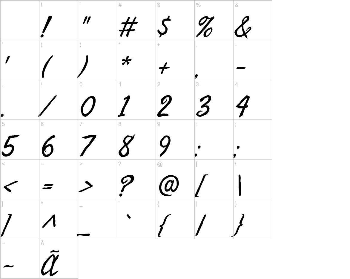 Seaweed Script characters