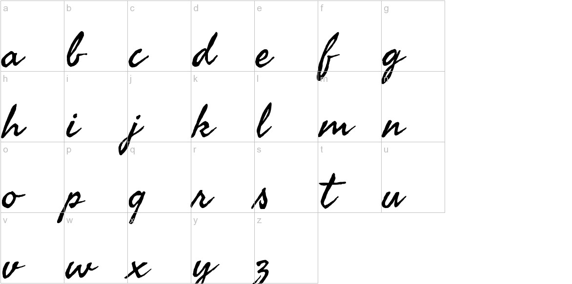 Seaweed Script lowercase