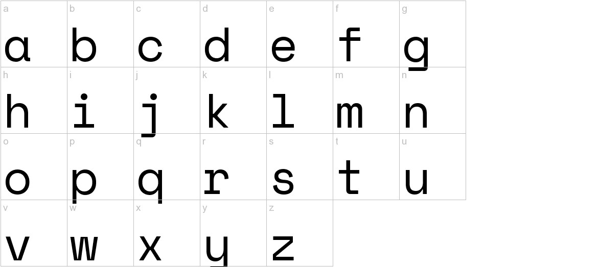 Space Mono lowercase