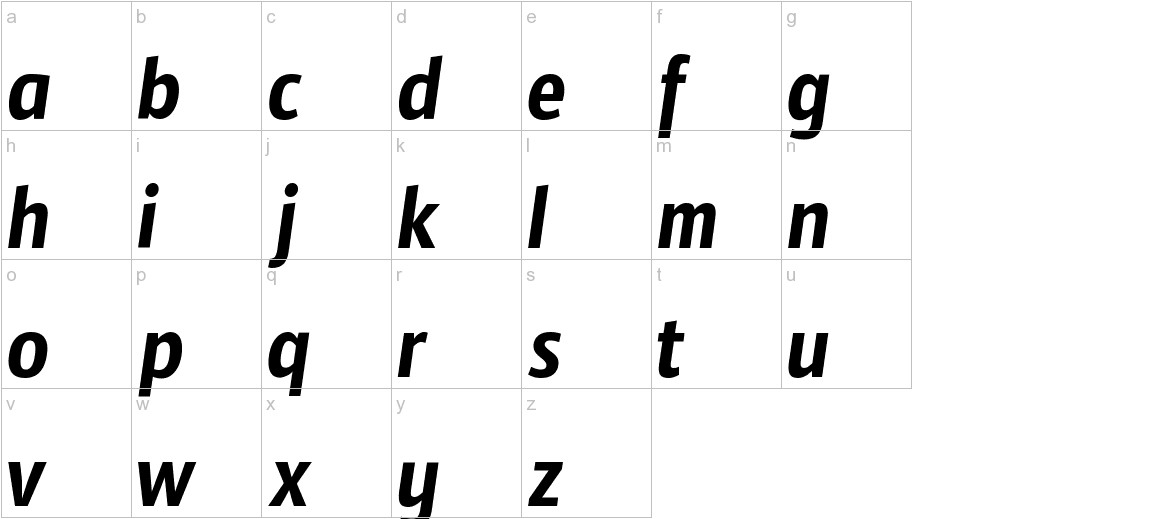 Timmana lowercase