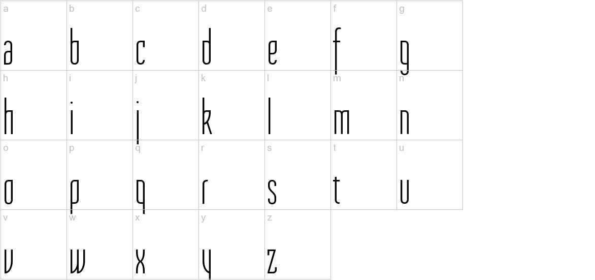 Tulpen One lowercase