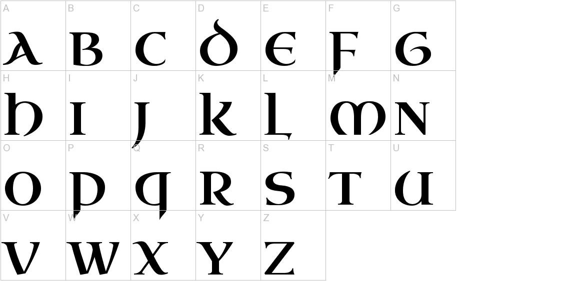 Uncial Antiqua uppercase