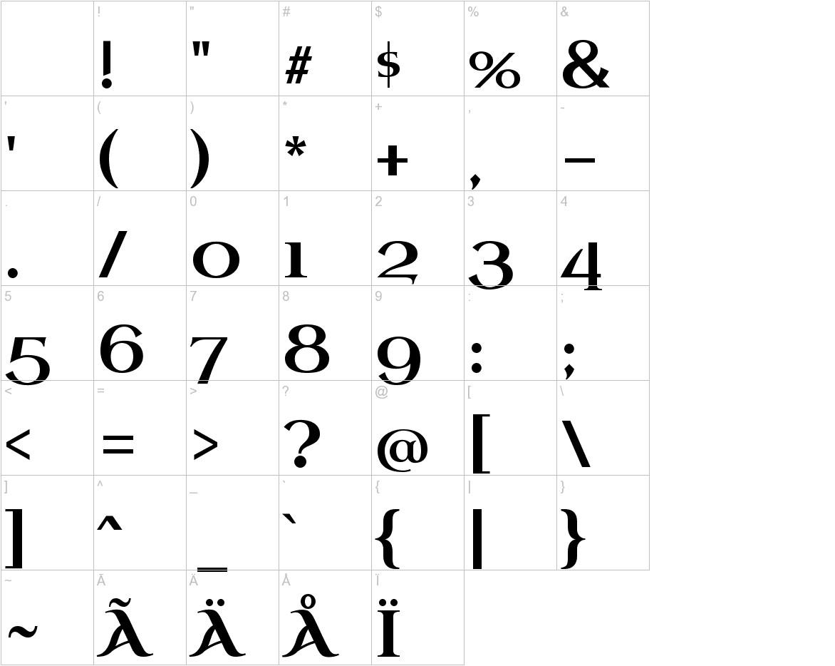 Uncial Antiqua characters