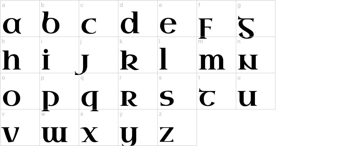 Uncial Antiqua lowercase