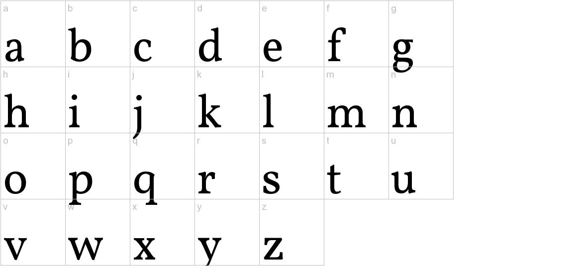 Vollkorn lowercase