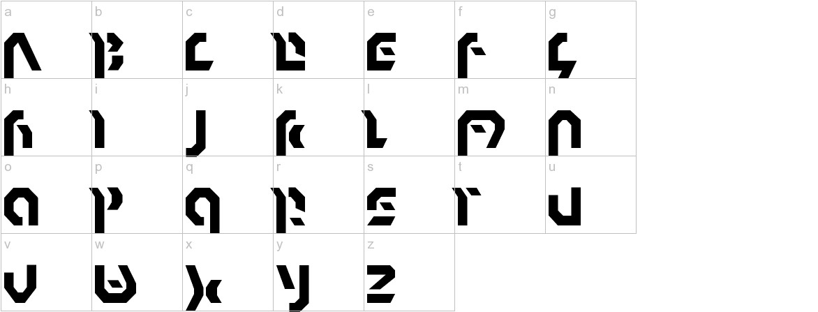 Omnicron Normal lowercase