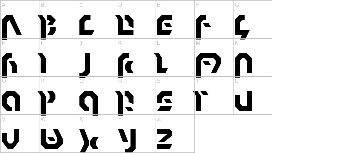 Omnicron Normal uppercase
